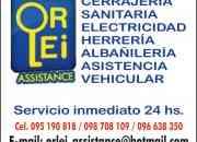 Servicios de cerrajeria,sanitaria y herreria en Montevideo 24hs.