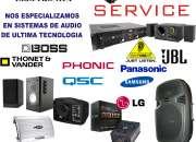 SERVICE DE REPARACION DE EQUIPOS DE AUDIO