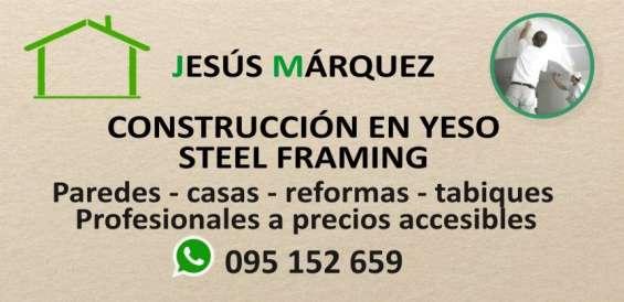 Construcción en yeso - steel framing