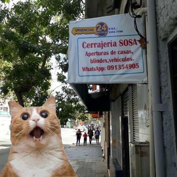 Cerrajería zona cerro, brazo oriental, cordón, pocitos y goes. whatsapp: 091354905